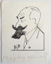 Dessins et lavis du XXe siècle et contemporains originaux signés portrait, autoportrait