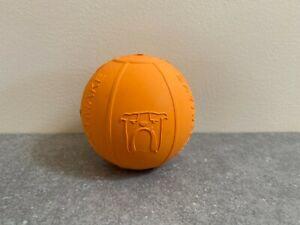 Brand New BULLYMAKE Orange Beach Ball Rubber Dog Chew Toy - Made in USA