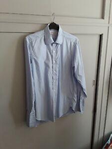 Turnbull & Asser men's blue/white striped shirt - 16.5.  Preowned