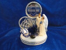 New INDIANAPOLIS COLTS Wedding Caketopper with Bride & Groom