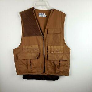 Vintage Redhead Blue Bill Brown Canvas padded shoulder Hunting Vest size Large