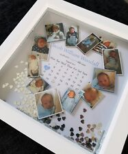 Personalised 3d deep box frame new born baby photo collage wedding birthday gift