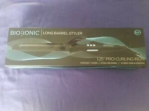 "Bio Ionic Long Barrel Styler 1.25"" PRO Curling Iron NANOIONIC Ceramic"