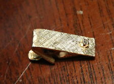 very small mens 14k gold and diamond tie clip