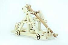Building toy CATAPULT Trebuchet set, wood, collectible.