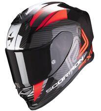 CASCO HELMET MOTO INTEGRALE SCORPION EXO R1 AIR HALLEY RED BLACK CARBON TG S