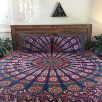 Indian Peacock Mandala Duvet Cover Quilt Bohemian Bedding Cover Cotton