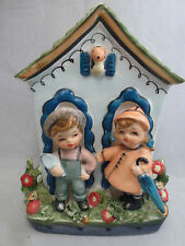 Vintage  Japan   Wall Pocket Ceramic Vintage Retro Eames 15/53 figurine planter