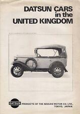 Datsun Nissan 1971-72 UK Foldout Brochure Cherry 100A 1200 1600 1800 240C 240Z