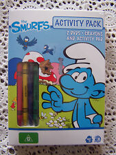 The Smurfs - 2 DVDs Crayons and Activity Pad Region 4