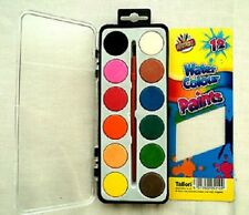 12 colori acqua vernici & Pennello Kids Art Craft Paint Set Art Box ACQUA art - 5110
