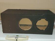 "DUAL 8"" Subwoofer Cabinet PORTED BOX Bass Speaker Enclosure"