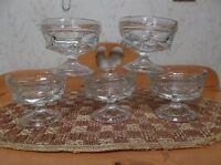 Vintage Soda Shoppe pressed glass Sundae cups (5)