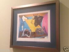 PICASSO Original Lithograph Still Life with candle,Palette and Black Bull's Head