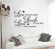 DIY Live Laugh Love Stickers Decal Sticker Removable Mural Home Room Decor Gift