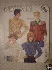 UNCUT Vintage McCalls Pattern Shirt Top 2218 8 SEWING