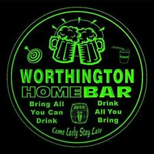4x ccq49073-g WORTHINGTON Home Bar Ale Beer Mug 3D Etched Drink Coasters