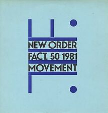 New Order Movement Uk Factory Label Lp 80s issue