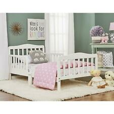 Toddler Beds with Safety Rails Frame for Kids Adult Children Bedroom Dorm White