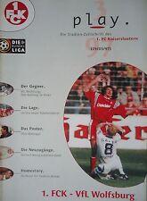 Programm 1996/97 1. FC Kaiserslautern - VfL Wolfsburg