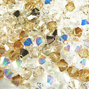 Swarovski 5328 Xilion Bicone Mixes 4mm Champagne Gold 100 beads