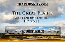 "TrainJunkies HO Scale  ""The Great Plains"" Backdrop  18x120""  C-10 Brand New"