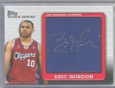 2009-10 Topps Basketball Eric Gordon Rookie Rewind Autograph Card # 80/99