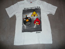 t-shirt garçon blanc ANGRY BIRDS kiabi taille 12 ans