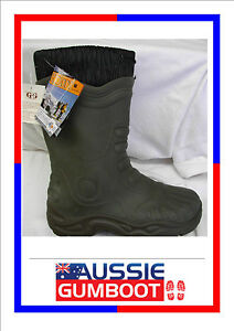Gumboots ENDURO Green Quality Snow Fleecy Lined Size 2 3 4 5 6 7 8 9 10 11 12 13