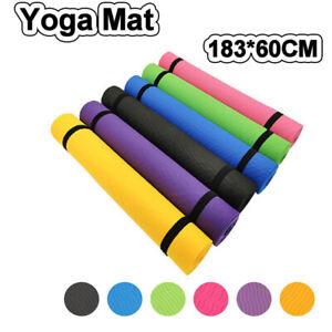 Exercise Mat EVA Yoga Mat Non-Slip Gym Fitness Pilates Workouts Durable Pad Mats