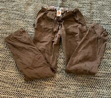 Koi By Kathy Peterson Women's Scrub Cargo Pants Size Small Tall Brown. Comfy!