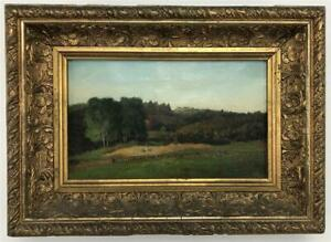 GEORGE W. WHITAKER Signed Art Landscape Oil Painting New England Rhode Island RI