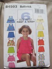 Butterick 6 Fast & Easy Pattern 4503 Top, Skort & Shorts Sizes: 6 - 7 - 8 NEW