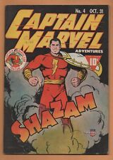 Captain Marvel Adventures #4 Fawcett Comics 1941 FN/VF