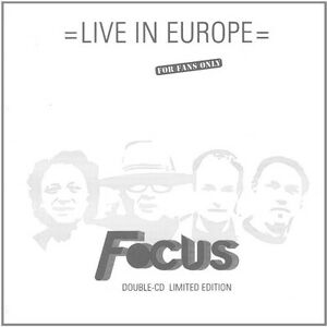 Live In Europe - 2 DISC SET - Focus (2016, CD NEUF)