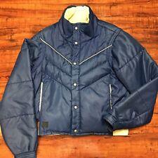VTG Altra 70s Boulder Colorado Down Puffer Jacket / Vest Men's Medium Blue USA