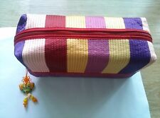Korean Traditional Crafts Quilt Fabric Cosmetic Pouch Makeup Bag x 2