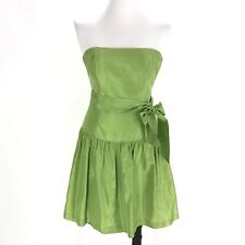 Lilly Pulitzer Dress Size 4 Green Strapless Short Party Silk Fit and Flair Solid