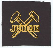 JUDGE hammers logo CLOTH PATCH **FREE SHIPPING** sew on, bringin' it down sxe
