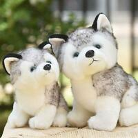 Realistic Husky Dog Plush Toy Stuffed Animal Soft Wolf Pet Doll Cute Kid Gift US