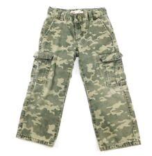 Levi's 505 Regular Boys Green Camouflage Cargo Pants 4 Reg