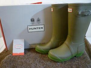 HUNTER Original Rain Boots Contrast Sole $85 Kid's B3 or G4 New In Box