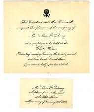 Washington DC -PRESIDENT THEODORE ROOSEVELT- 1903 White House Invitation