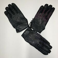 Motorcycle Women's leather Gloves Three Colors Flame embroidery soft leather