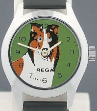 Vintage Lassie Moving Eyes Character Watch by Rega Famous Television Collie Dog