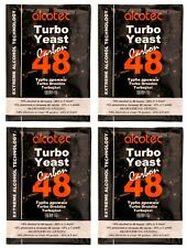 Alcotec Carbon 48 Hour Turbo Distillers Yeast (Pack of 4), Moonshine