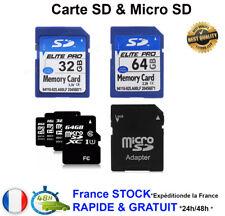Carte mémoire SD Micro SD 8 16 32 64 Go Class 10 TF Flash SDHC Téléphone apparei