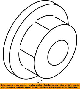 FORD OEM 15-18 Transit-350 Shock-Rear Suspension-Lower Bushing Nut W520114S442