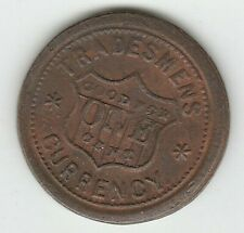 Shield Tradesmens Currency Copper Patriotic Civil War Token 202/434