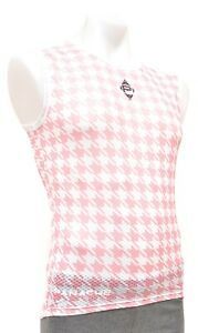 Panache Pink Houndstooth Sleeveless Base Layer Men MED L XL 2XL Road Bike MTB CX